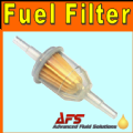 SMALL Inline Petrol/Diesel Fuel Filter - 6mm & 8mm Hose Tails